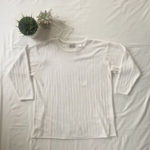 Vintage Sweaters - Vintage Classic White Sweater